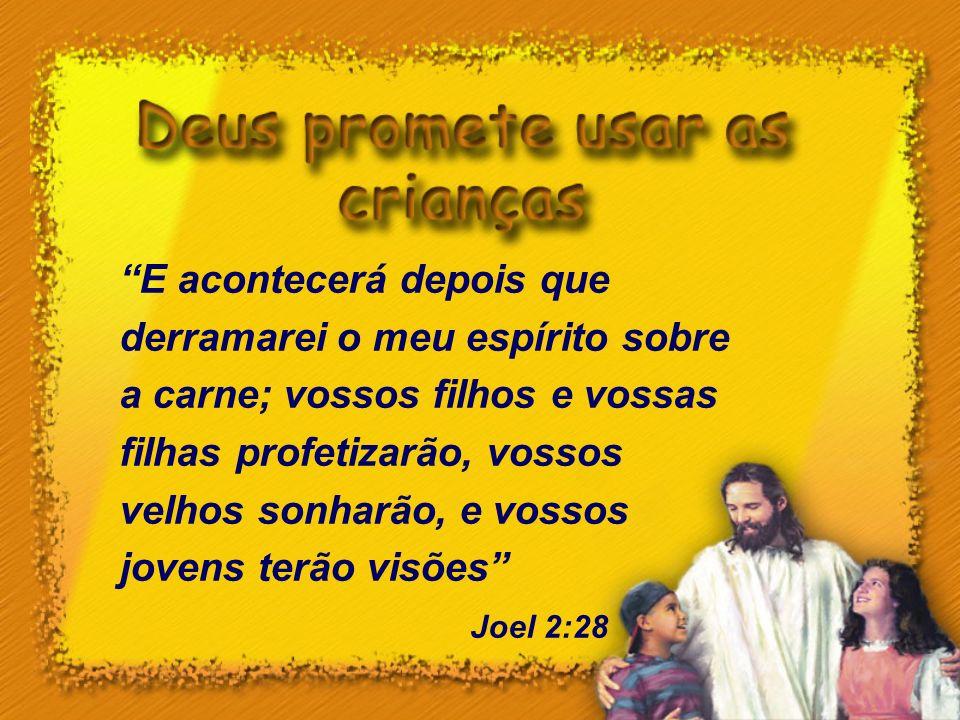 E acontecerá depois que derramarei o meu espírito sobre a carne; vossos filhos e vossas filhas profetizarão, vossos velhos sonharão, e vossos jovens terão visões
