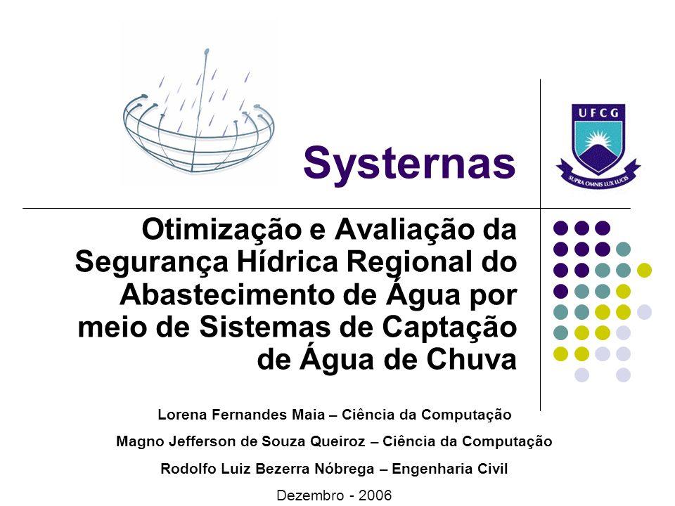 Systernas Otimização e Avaliação da Segurança Hídrica Regional do Abastecimento de Água por meio de Sistemas de Captação de Água de Chuva.
