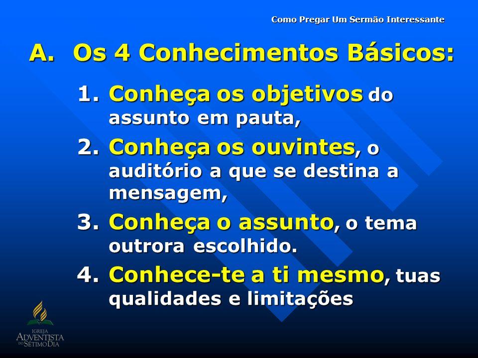 Os 4 Conhecimentos Básicos: