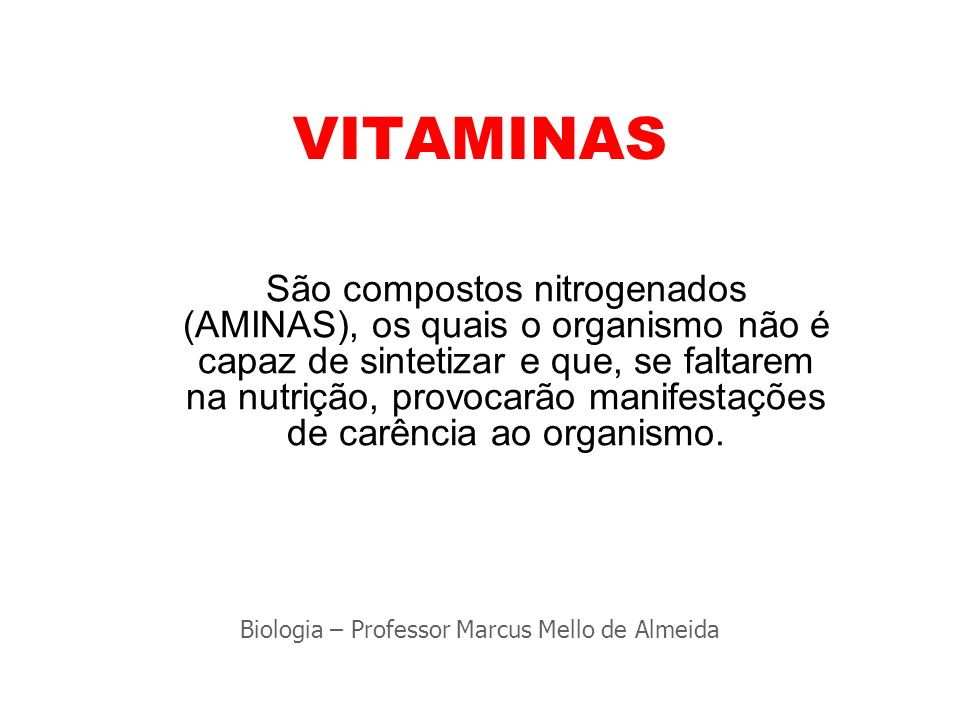 Biologia – Professor Marcus Mello de Almeida