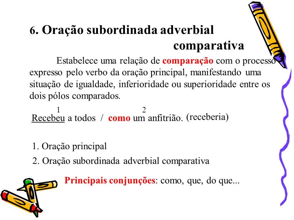 comparativa 6. Oração subordinada adverbial