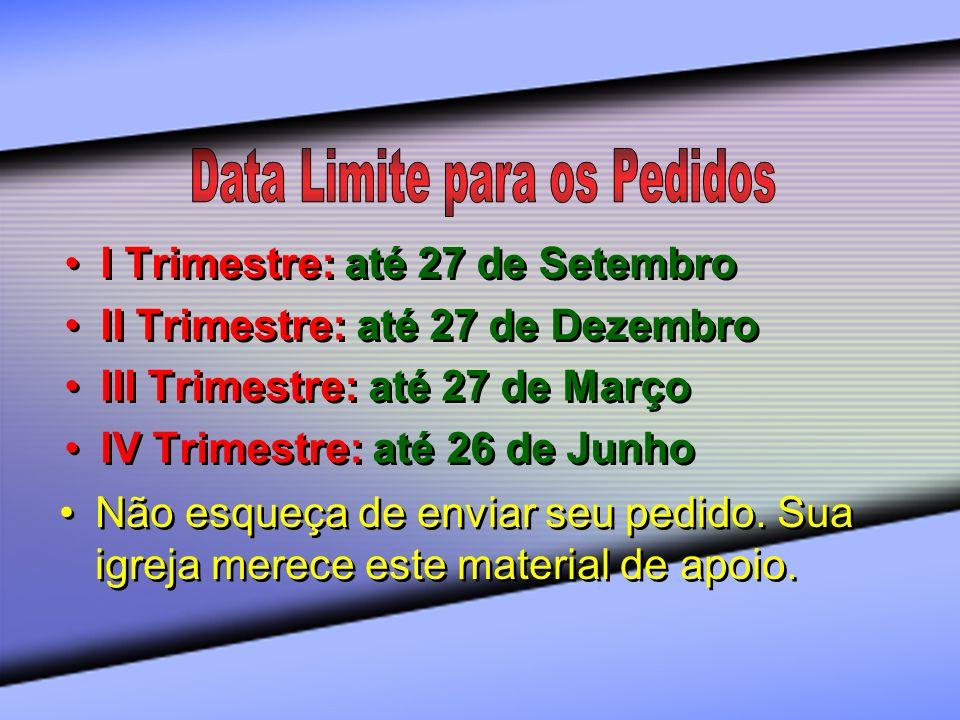 Data Limite para os Pedidos