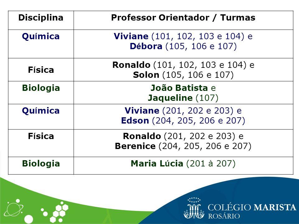 Professor Orientador / Turmas