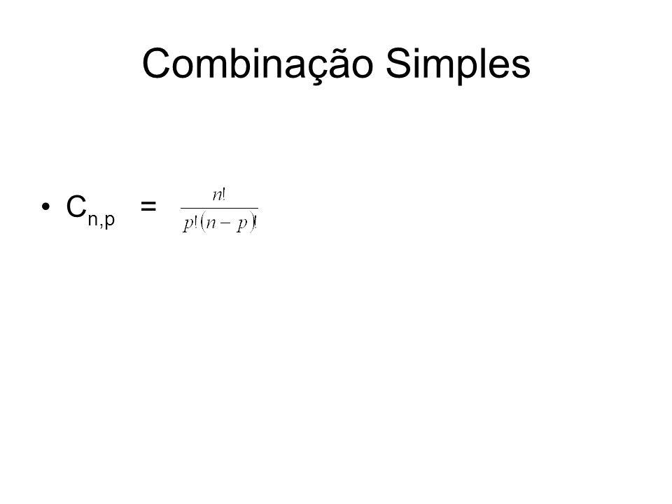 Combinação Simples Cn,p =