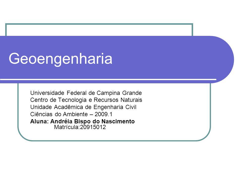 Geoengenharia Universidade Federal de Campina Grande