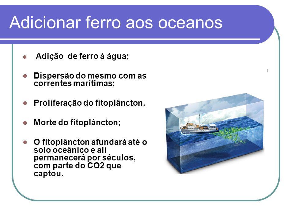 Adicionar ferro aos oceanos