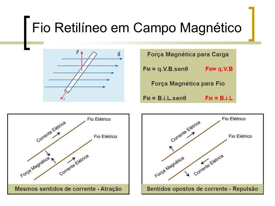 Fio Retilíneo em Campo Magnético