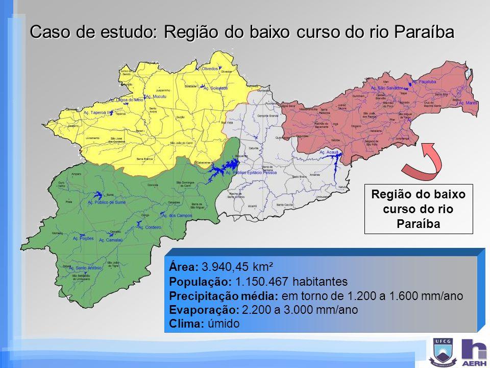 Caso de estudo: Região do baixo curso do rio Paraíba