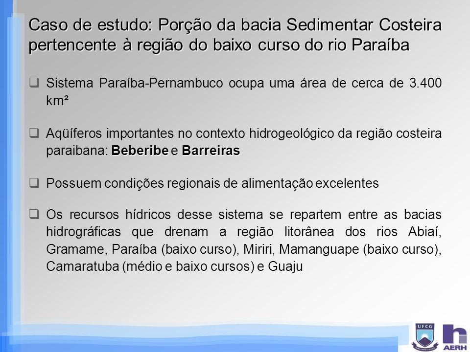 Caso de estudo: Porção da bacia Sedimentar Costeira pertencente à região do baixo curso do rio Paraíba