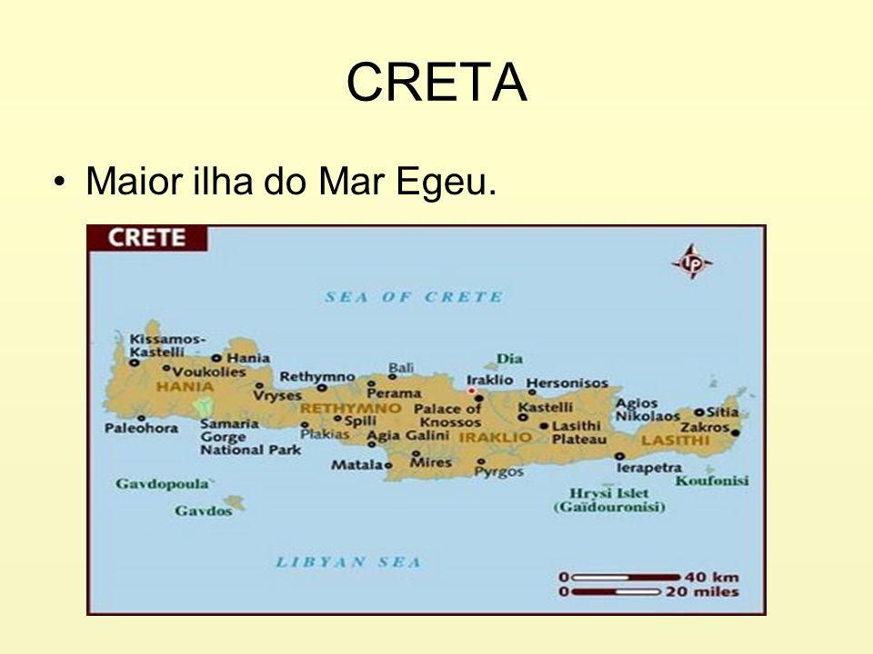 CRETA Maior ilha do Mar Egeu.