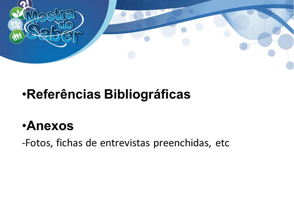 Referências Bibliográficas Anexos
