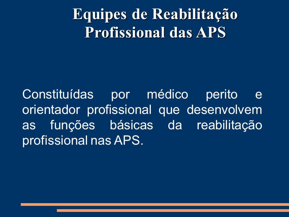 Equipes de Reabilitação Profissional das APS