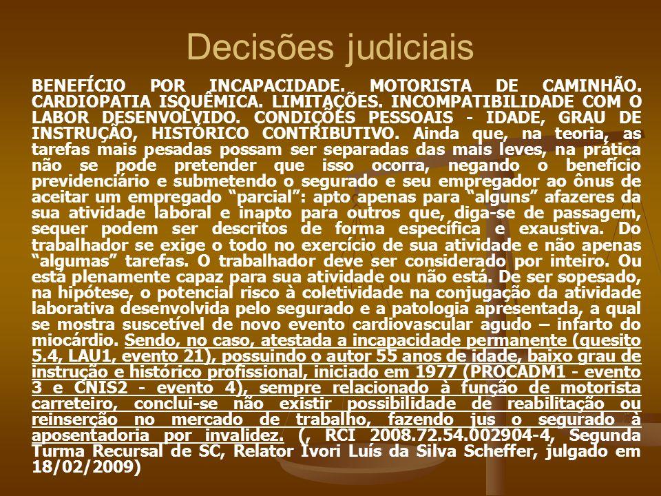Decisões judiciais