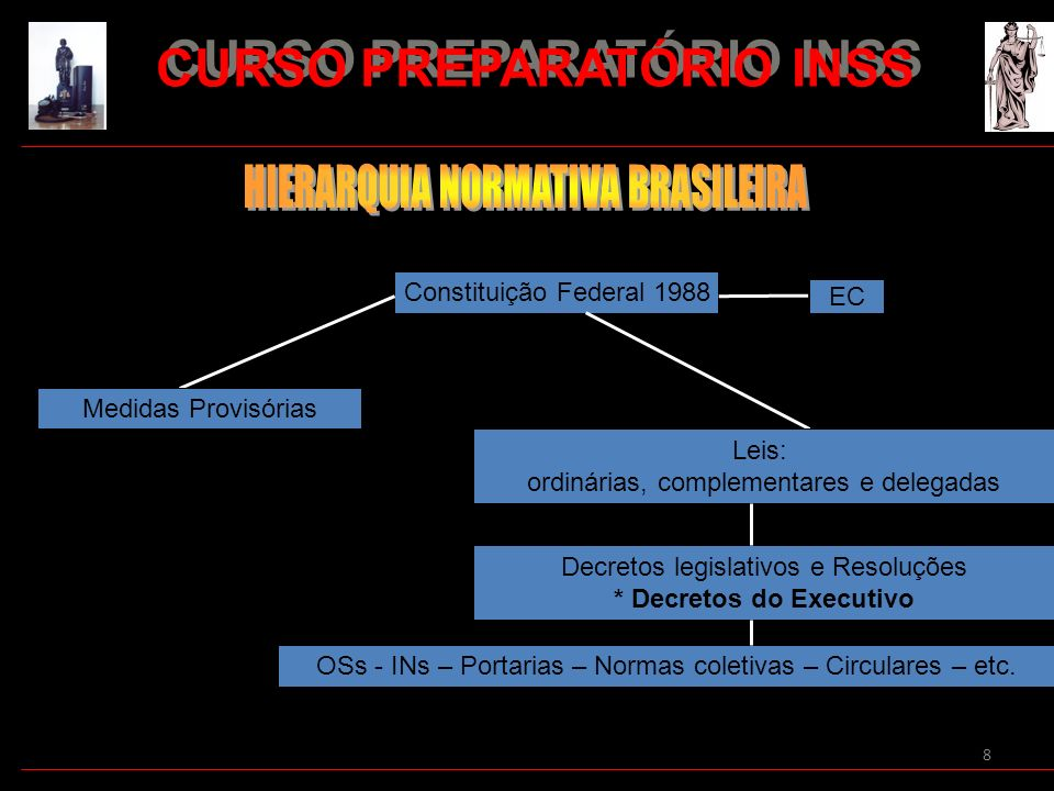 CURSO PREPARATÓRIO INSS * Decretos do Executivo