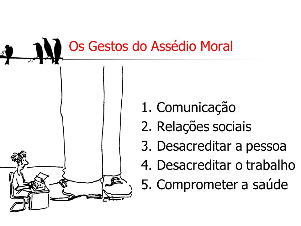 Os Gestos do Assédio Moral