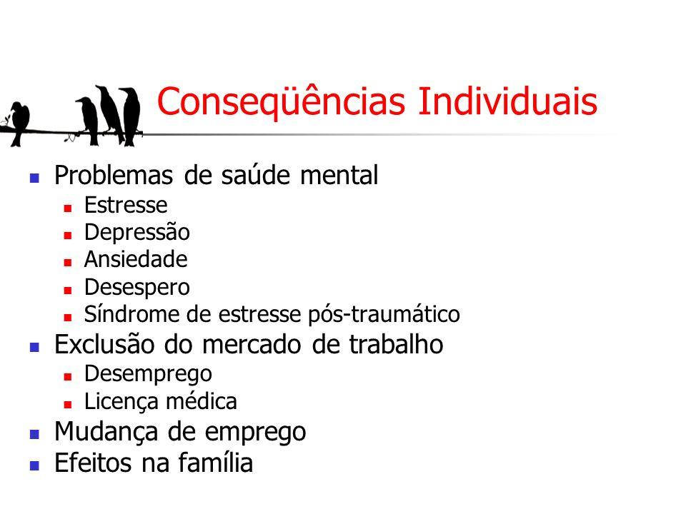 Conseqüências Individuais