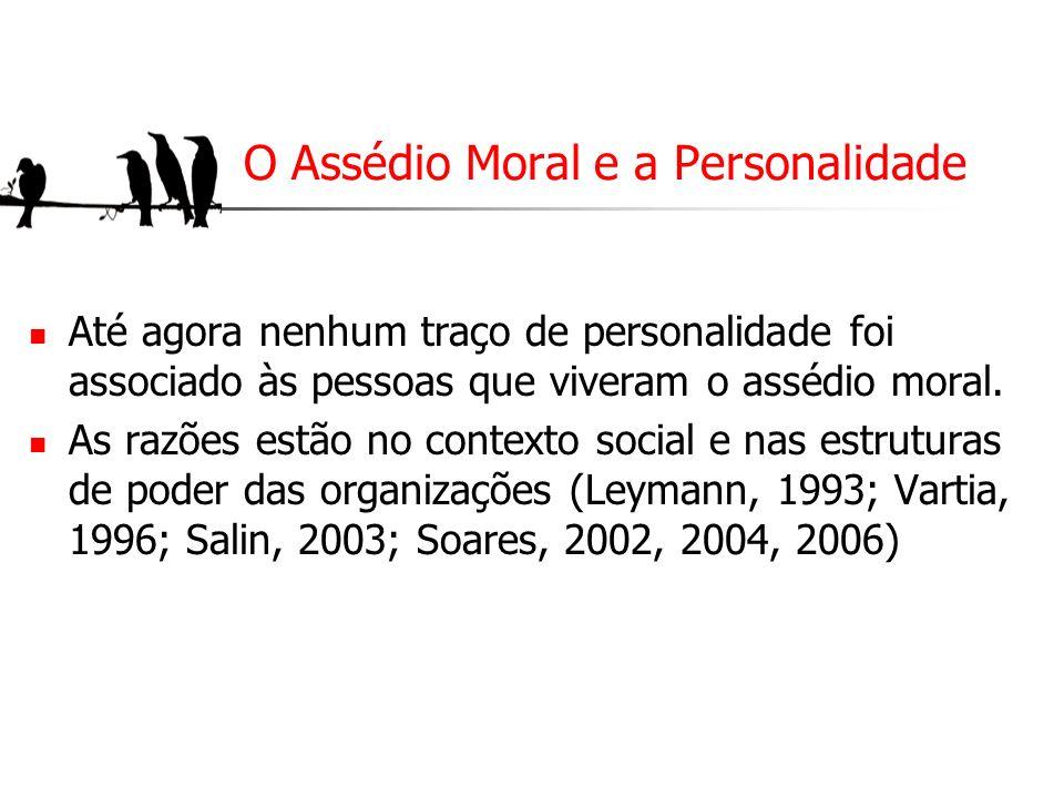 O Assédio Moral e a Personalidade
