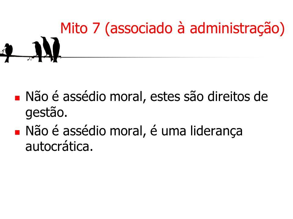 Mito 7 (associado à administração)