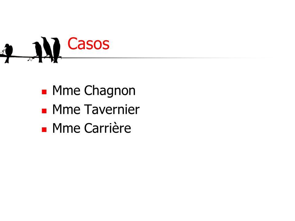 Casos Mme Chagnon Mme Tavernier Mme Carrière