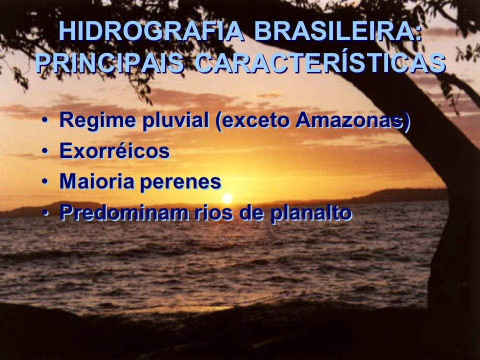 HIDROGRAFIA BRASILEIRA: PRINCIPAIS CARACTERÍSTICAS