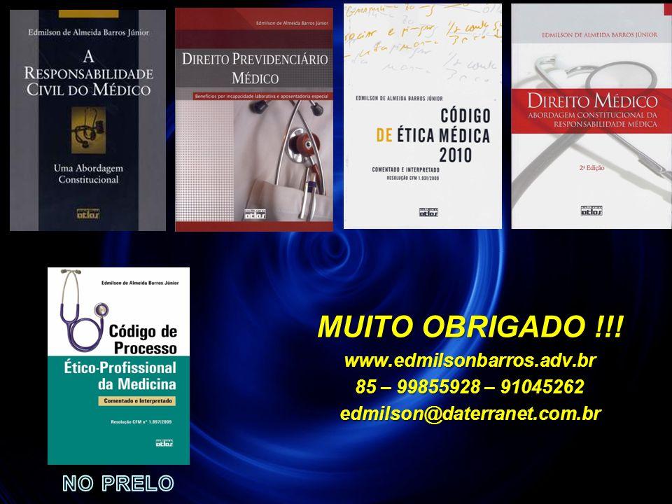 MUITO OBRIGADO !!! NO PRELO www.edmilsonbarros.adv.br