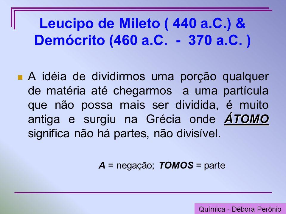 Leucipo de Mileto ( 440 a.C.) & Demócrito (460 a.C. - 370 a.C. )