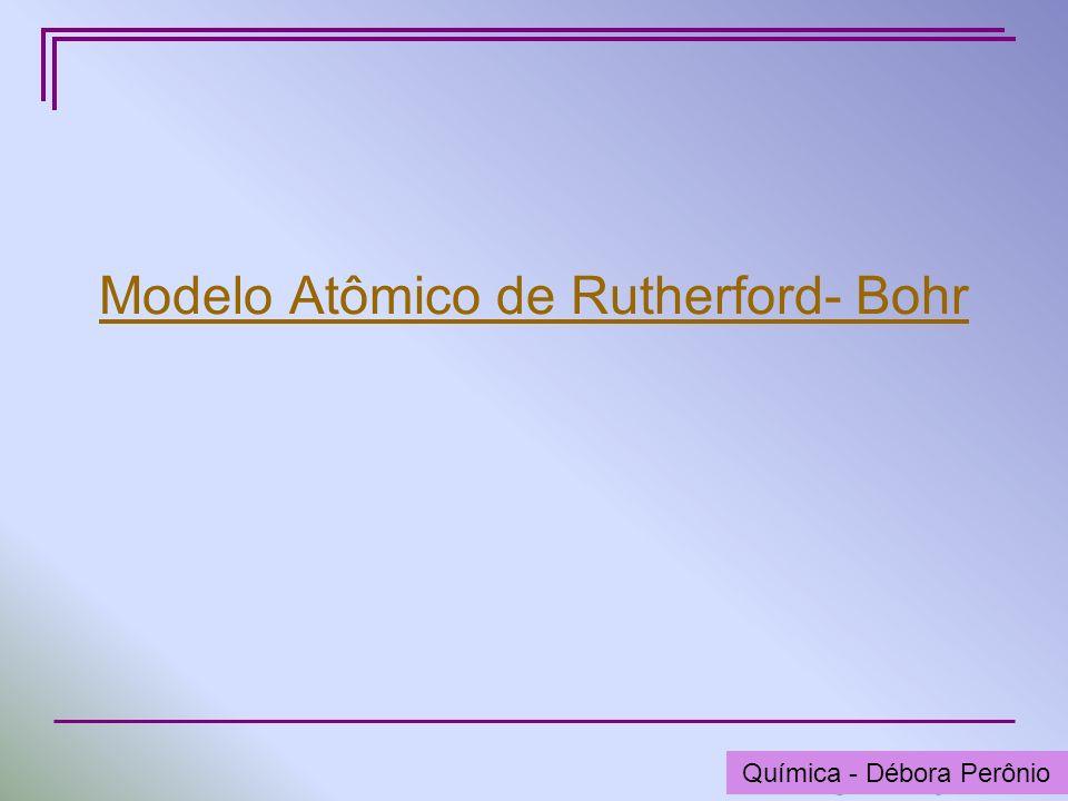 Modelo Atômico de Rutherford- Bohr