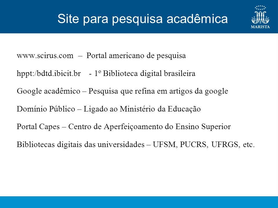 Site para pesquisa acadêmica
