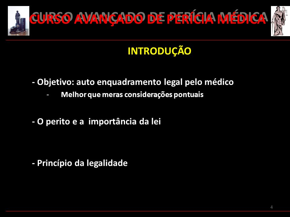 CURSO AVANÇADO DE PERÍCIA MÉDICA
