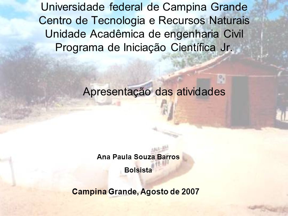 Campina Grande, Agosto de 2007