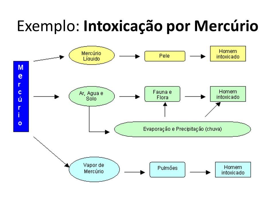 Exemplo: Intoxicação por Mercúrio
