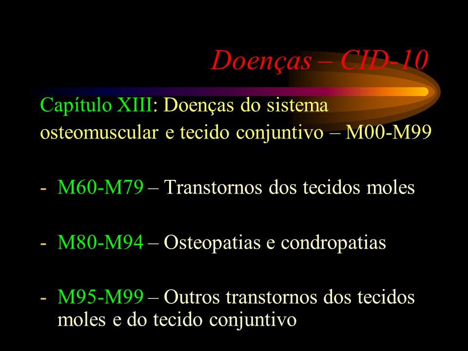 Doenças – CID-10 Capítulo XIII: Doenças do sistema