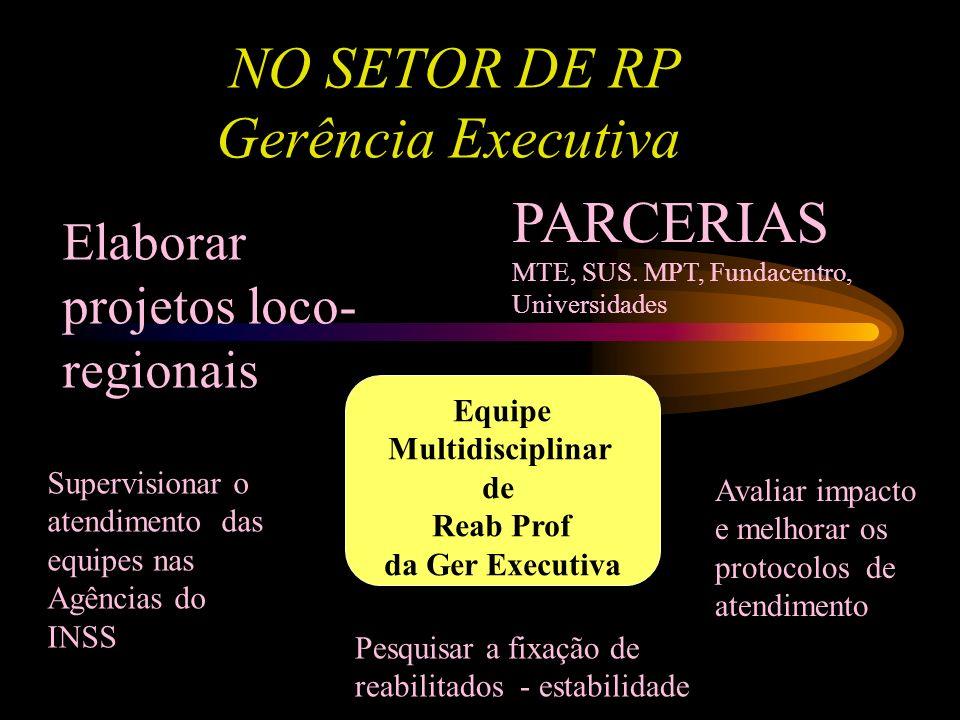 NO SETOR DE RP Gerência Executiva