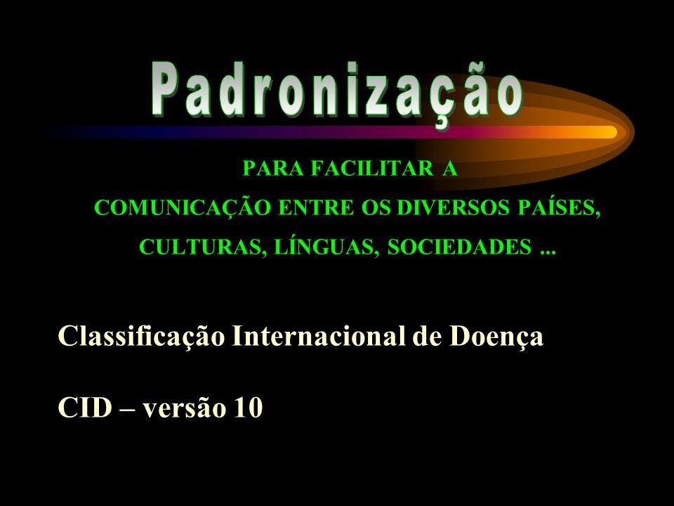 Classificação Internacional de Doença CID – versão 10
