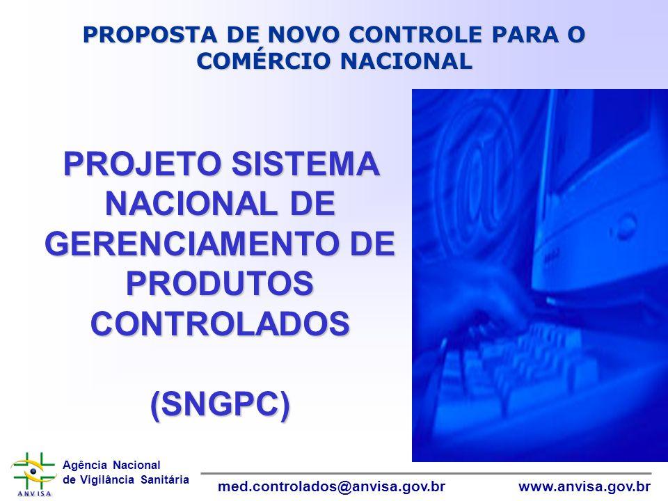 PROJETO SISTEMA NACIONAL DE GERENCIAMENTO DE PRODUTOS CONTROLADOS