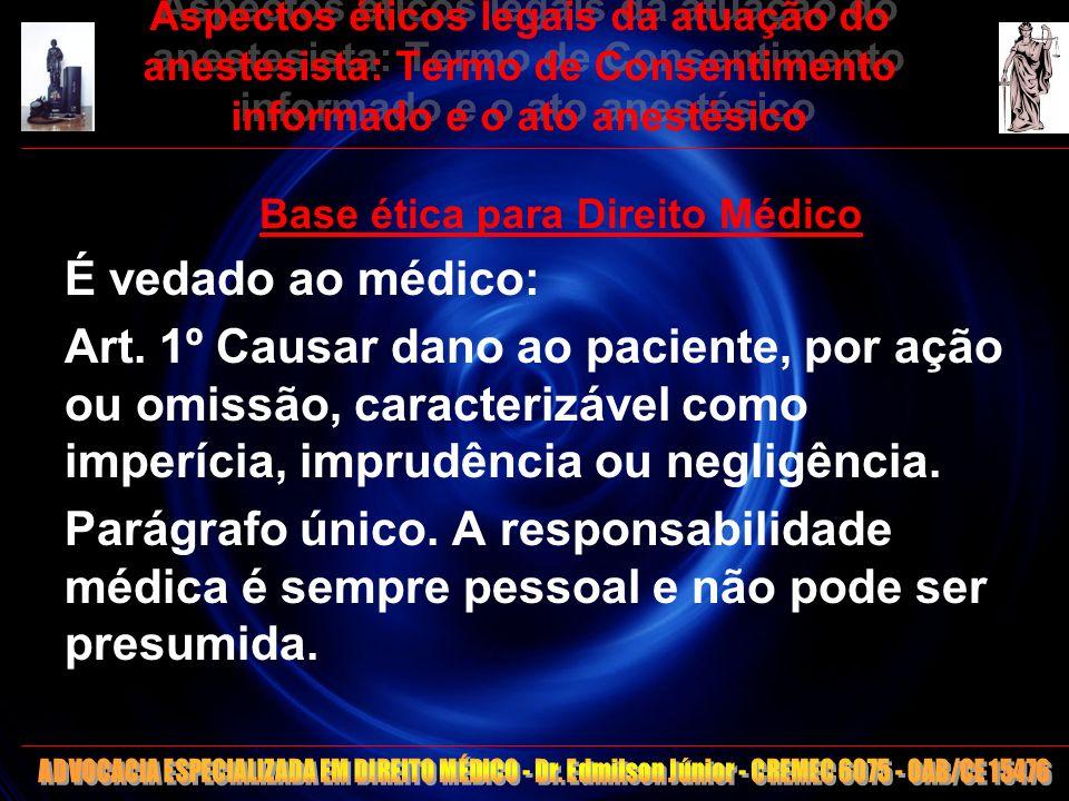 Base ética para Direito Médico