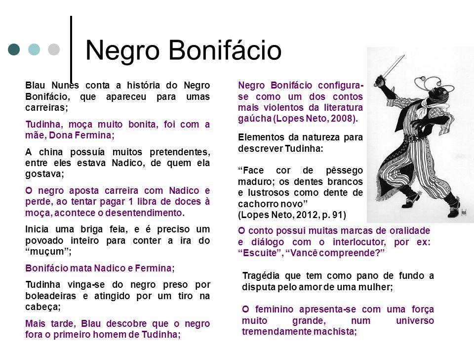 Negro Bonifácio Blau Nunes conta a história do Negro Bonifácio, que apareceu para umas carreiras;