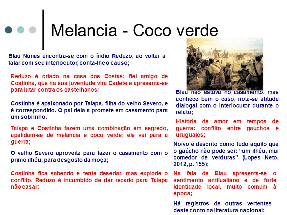 Melancia - Coco verde Blau Nunes encontra-se com o índio Reduzo, ao voltar a falar com seu interlocutor, conta-lhe o causo;