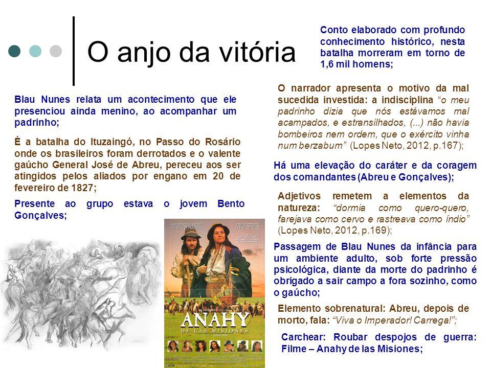 O anjo da vitória Conto elaborado com profundo conhecimento histórico, nesta batalha morreram em torno de 1,6 mil homens;