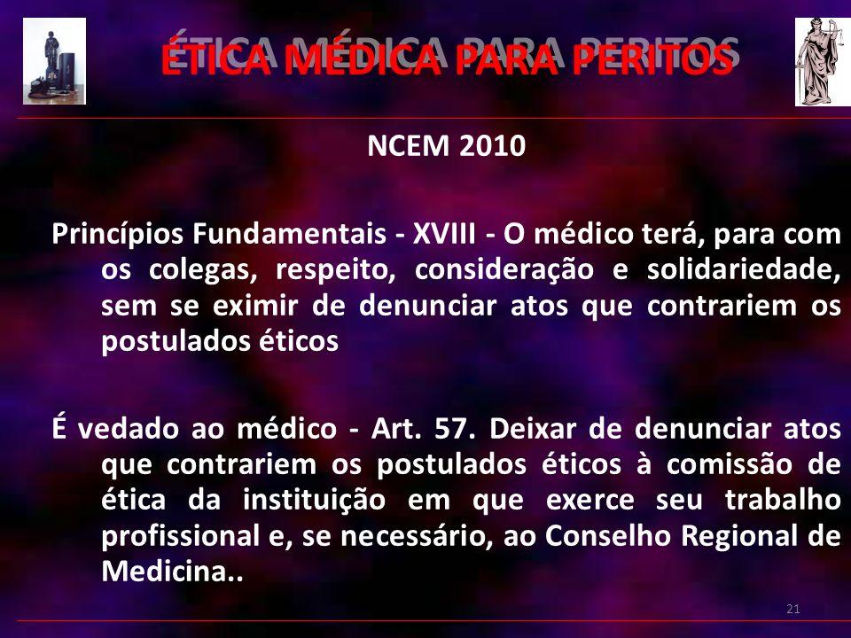 ÉTICA MÉDICA PARA PERITOS