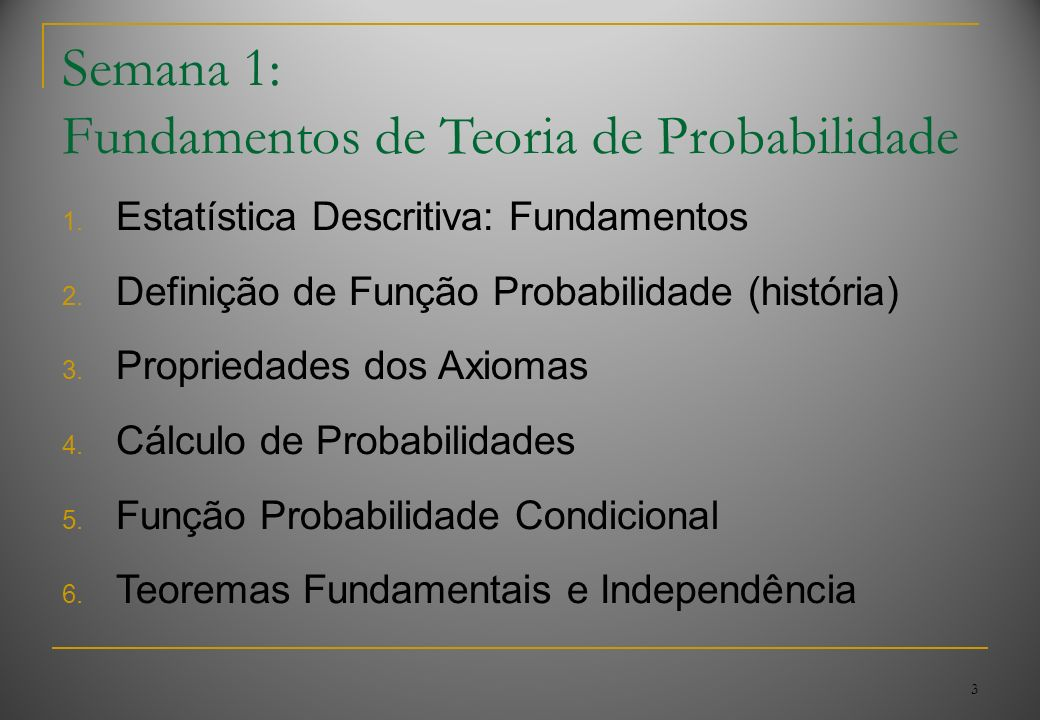 Fundamentos de Teoria de Probabilidade