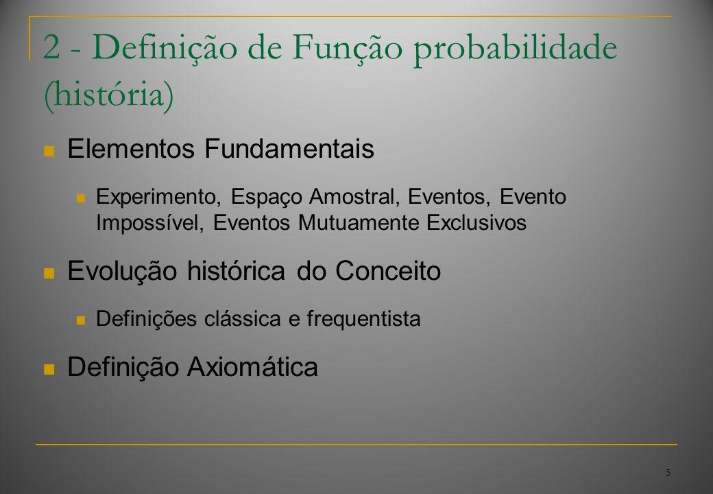 2 - Definição de Função probabilidade (história)