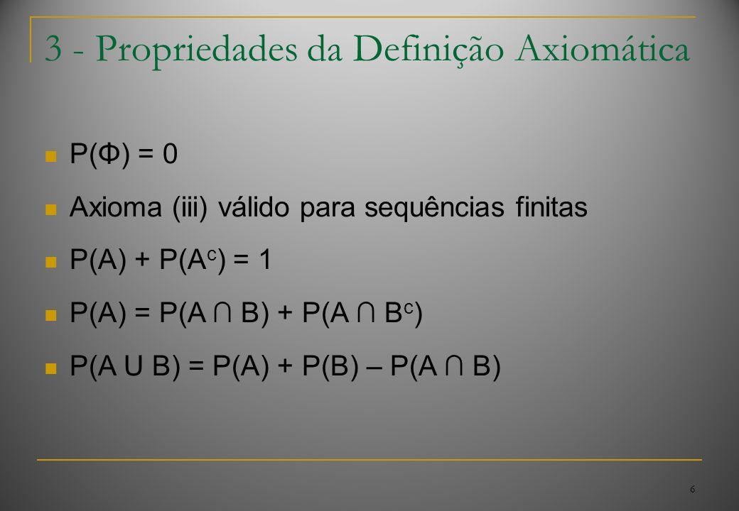 3 - Propriedades da Definição Axiomática