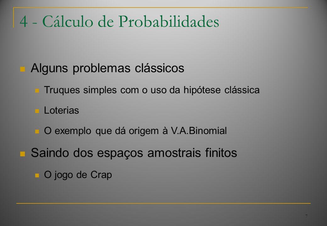 4 - Cálculo de Probabilidades