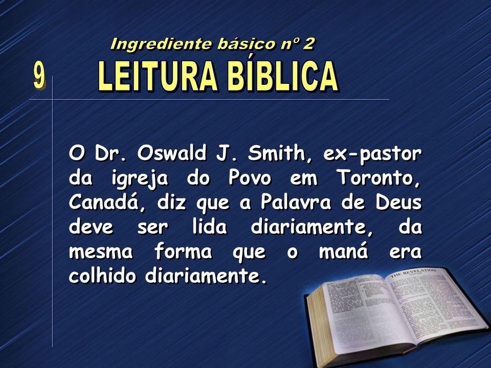 Ingrediente básico nº 2 LEITURA BÍBLICA 9