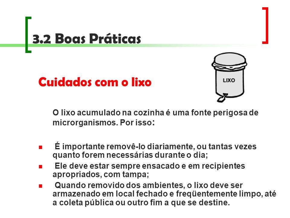 3.2 Boas Práticas Cuidados com o lixo