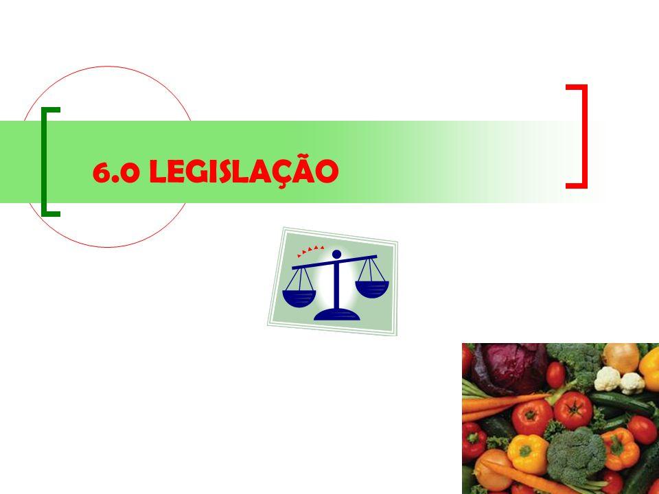 6.0 LEGISLAÇÃO