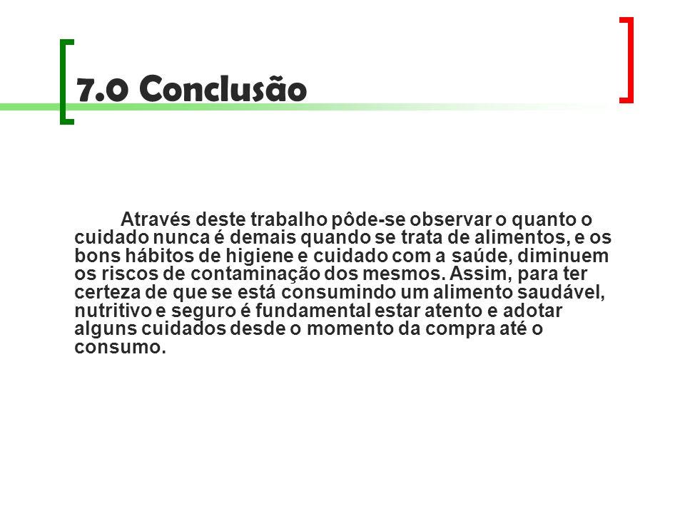 7.0 Conclusão