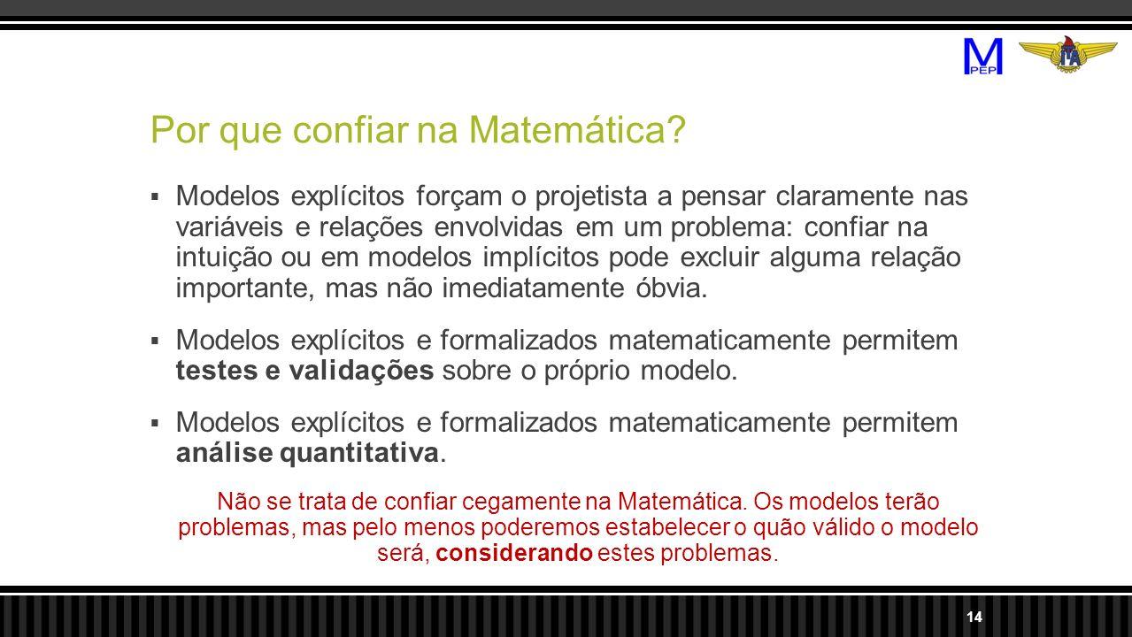 Por que confiar na Matemática