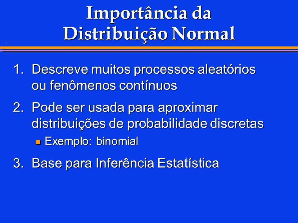 Importância da Distribuição Normal